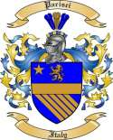 Parisci Family Coat of Arms from Italy