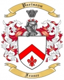 Pariseau Family Crest from France
