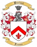 Parizet Family Crest from France