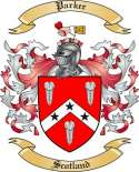 Parker Family Crest from Scotland