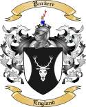 Parkere Family Crest from England