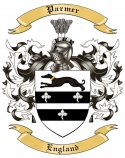 Parmer Family Coat of Arms from England