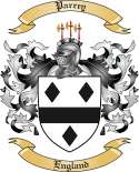 Parrey Family Coat of Arms from England