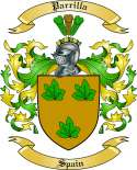 Parrilla Family Crest from Spain