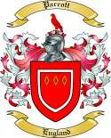 Parrott Family Crest from England