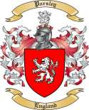 Parsley Family Crest from England