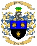 Parson Family Crest from England