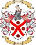 Partland Family Coat of Arms from Scotland