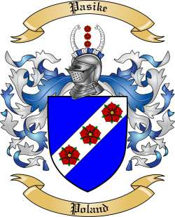 Pasike Family Crest from Poland