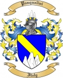 Pasqualini Family Crest from Italy