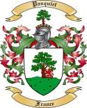 Pasquiet Family Coat of Arms from France