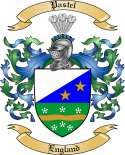 Pastel Family Coat of Arms from England