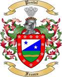 Pastel Family Coat of Arms from France
