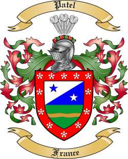 Patel Family Crest from France by The Tree Maker