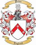 Pates Family Crest from England