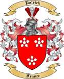 Patrick Family Crest from French