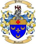 Patten Family Coat of Arms from Scotland