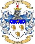 Patterson Family Crest from England