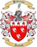 Patterson Family Crest from Ireland