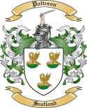 Patteson Family Crest from Scotland
