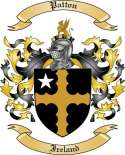 Patton Family Crest from Ireland