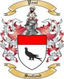 Paul Family Crest from Scotland