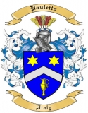 Pauletto Family Crest from Italy