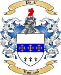 Paull Family Crest from England