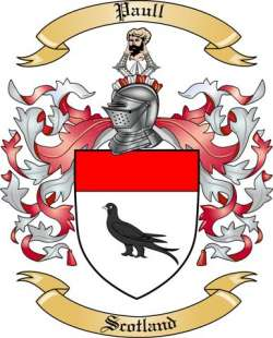 Paull Family Coat of Arms from Scotland