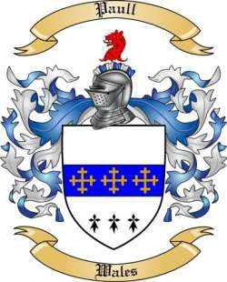 Paull Family Coat of Arms from Wales