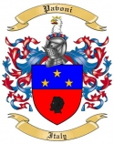 Pavoni Family Crest from Italy