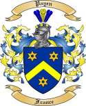 Payen Family Coat of Arms from France