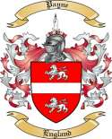 Payne Family Crest from England