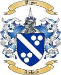 Payne Family Crest from Ireland