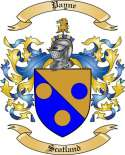 Payne Family Crest from Scotland