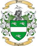 Peace Family Coat of Arms from England