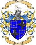 Peace Family Coat of Arms from Scotland