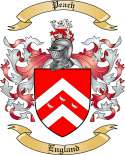 Peach Family Crest from England