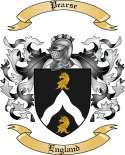Pearse Family Crest from England2