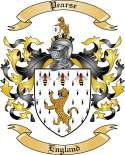 Pearse Family Crest from England