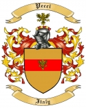 Pecci Family Crest from Italy