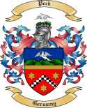 Peck Family Crest from Germany
