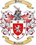 Pedan Family Crest from Scotland