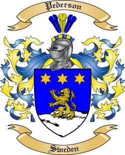 Pederson Family Crest from Sweden2 by The Tree Maker