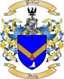 Pedini Family Crest from Italy