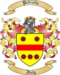 Pedrollo Family Coat of Arms from Italy