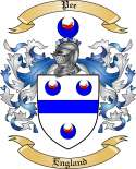 Pee Family Coat of Arms from England