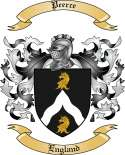 Peerce Family Crest from England