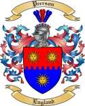 Peerson Family Crest from England