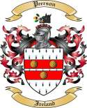 Peerson Family Crest from Ireland